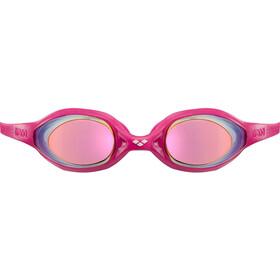arena Spider Mirror Goggles Kinder white-pink-fuchsia